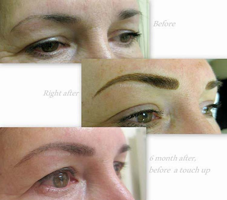 Touch ups for permanent makeup