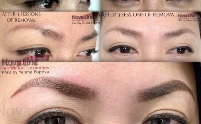 Eyebrows tattoo correction