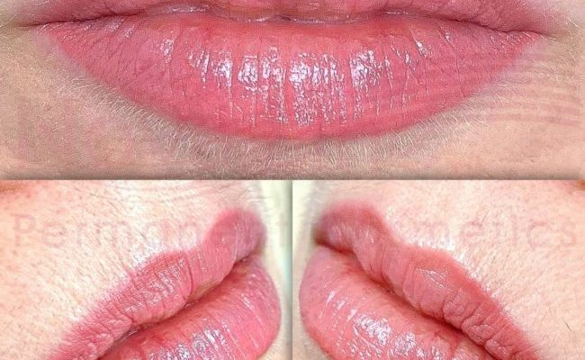 Lip blush tattoo