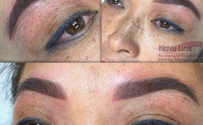 Powder eyebrows permanent makeup