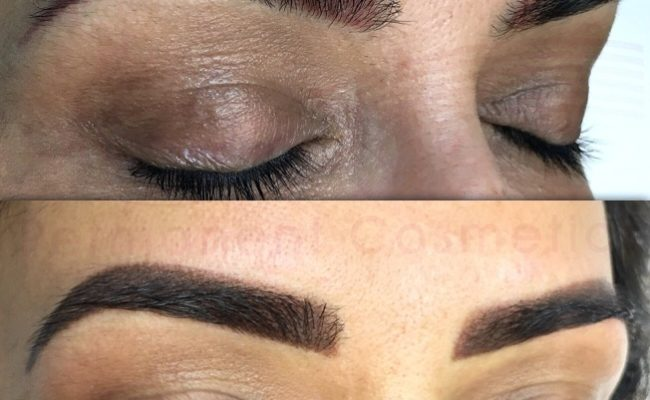 eyebrow colour correction