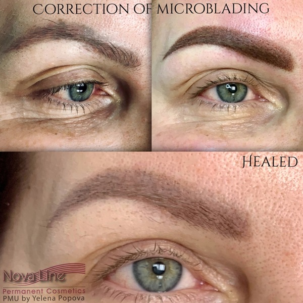 eyebrows correction