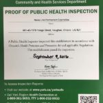 proof of public health inspection